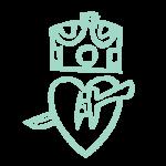 Pierced Heart Under Crown