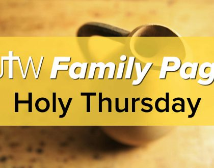 Family Page – Holy Thursday