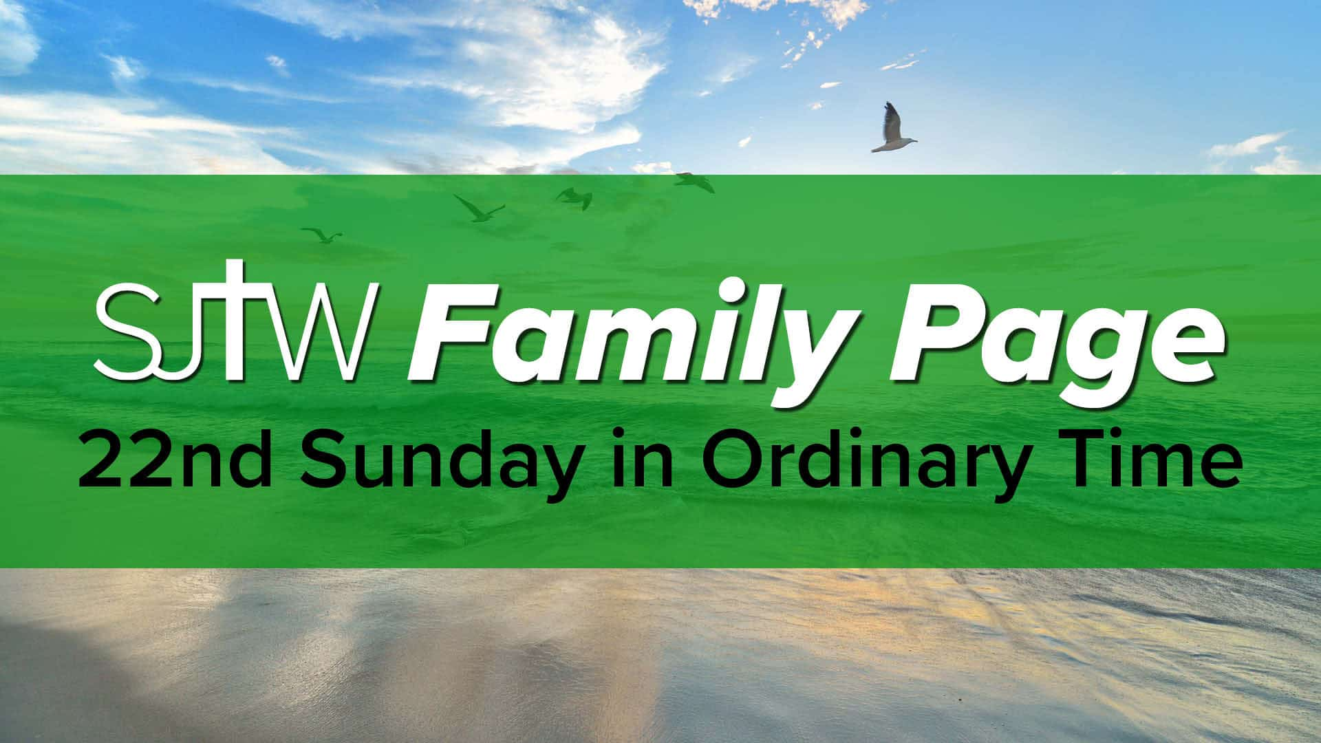 Family Page - 22nd Sunday in Ordinary Time