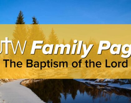 Family Page – The Baptism of the Lord